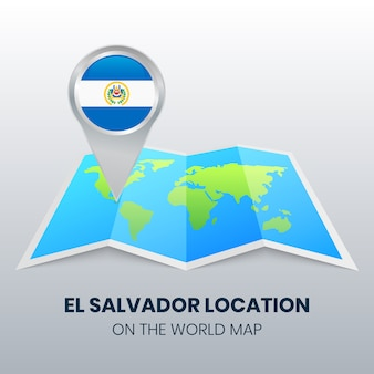 Icona della posizione di el salvador sulla mappa del mondo