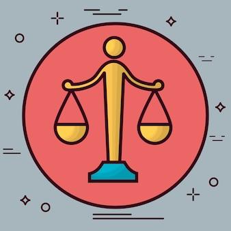 Icona della scala di legge
