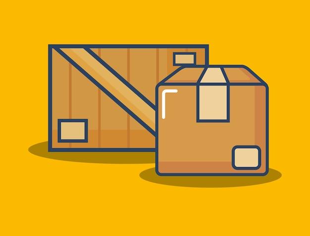 Icona della scatola di cartone