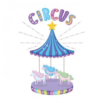 Icona della scena del carosello del circo