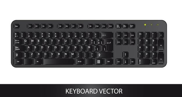 Icona della tastiera su sfondo bianco, illustrazione vettoriale
