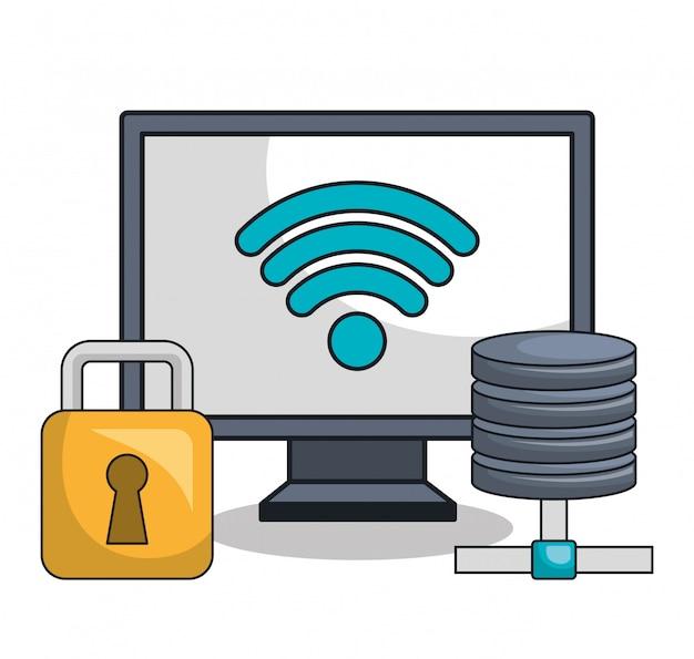 Icona della tecnologia delle impostazioni del computer