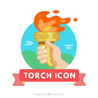Icona della torcia