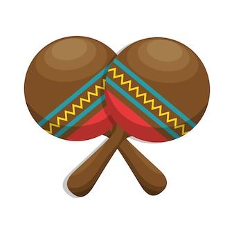Icona dello strumento di musica popolare maracas