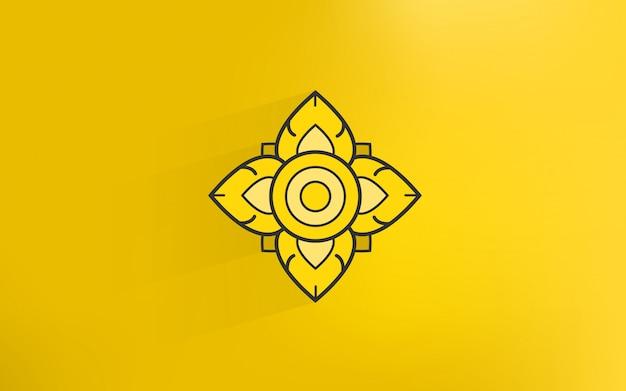 Icona di arte di tradizione tailandese con sfondo color oro