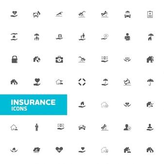 Icona di assicurazione set