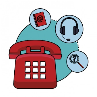 Icona di assistenza telefonica