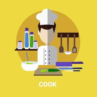 Icona di avatar maschio cucinare pasto profilo avatar