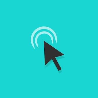 Icona di azione del mouse sulla freccia