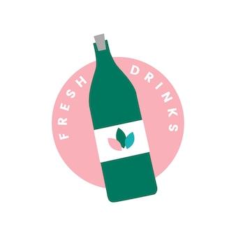 Icona di bevande fresche e biologiche