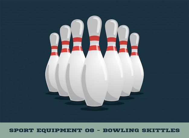Icona di birilli da bowling. equipaggiamento sportivo.