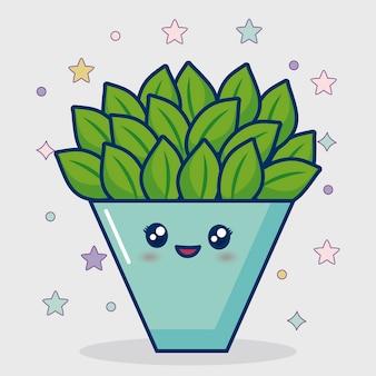 Icona di cactus kawaii