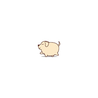 Icona di camminata del cane grasso labrador retriever