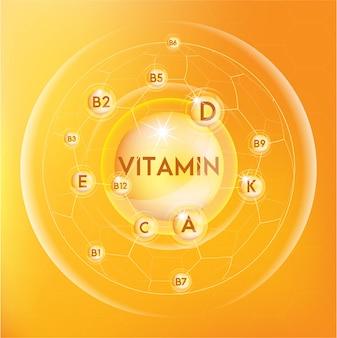 Icona di capsula pillola brillante vitamina