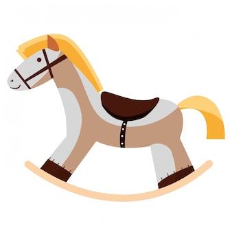 Icona di cavallo in legno