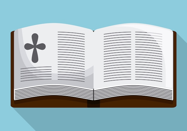 Icona di croce libro bibbia