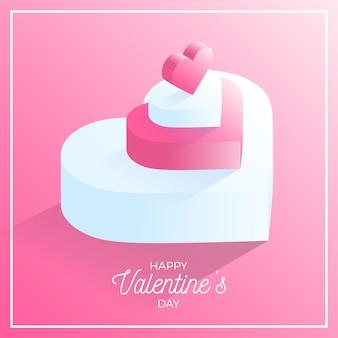 Icona di cuore amore felice giorno di san valentino rosa. cuore d'amore isometrico