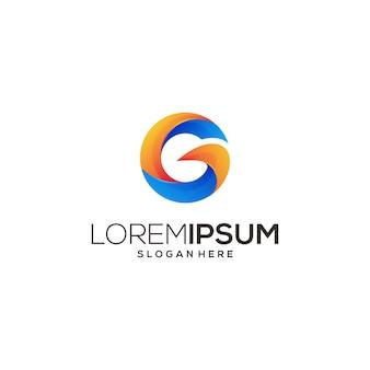 Icona di design di arte moderna logo g