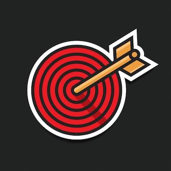 Icona di destinazione della freccia