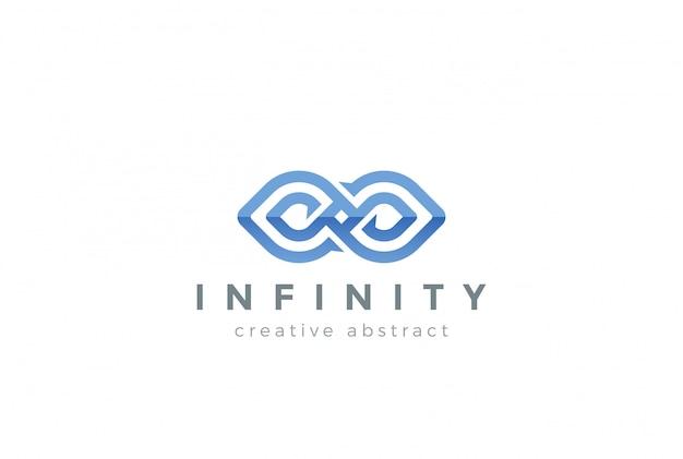 Icona di disegno astratto logo infinito