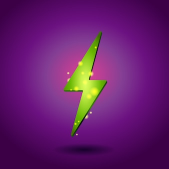 Icona di elettricità splendente.