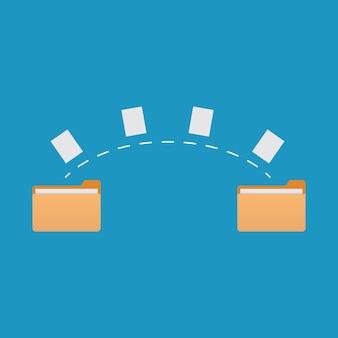 Icona di file, illustrazione vettoriale design piatto