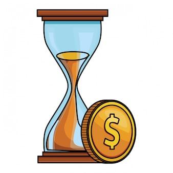 Icona di finanza clessidra