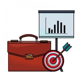 Icona di finanza valigetta
