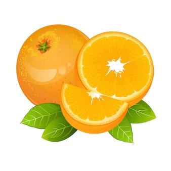 Icona di frutta fetta d'arancia