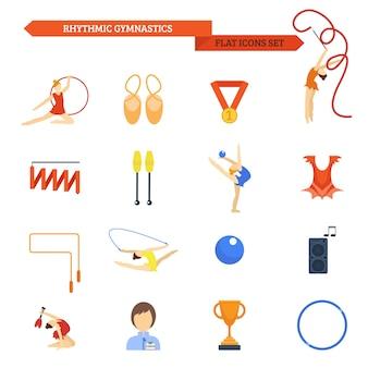 Icona di ginnastica piatta