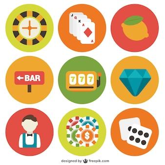 Icona di gioco d'azzardo confezione