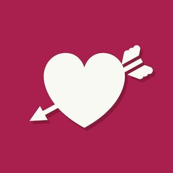 Icona di giorno di san valentino a forma di cuore