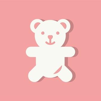 Icona di giorno di san valentino orsacchiotto