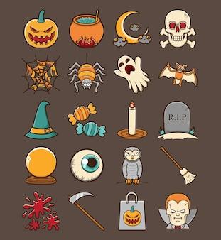Icona di halloween carino e divertente
