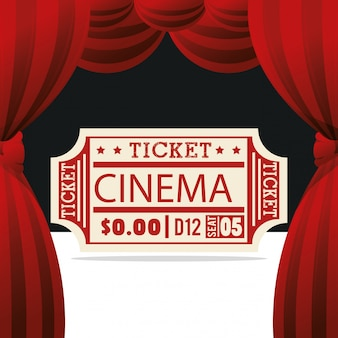 Icona di intrattenimento cinema biglietto