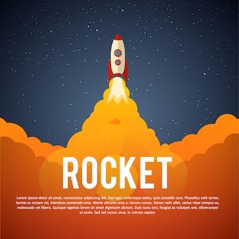 Icona di lancio del razzo.