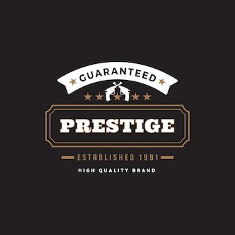 Icona di logo distintivo etichetta vintage.