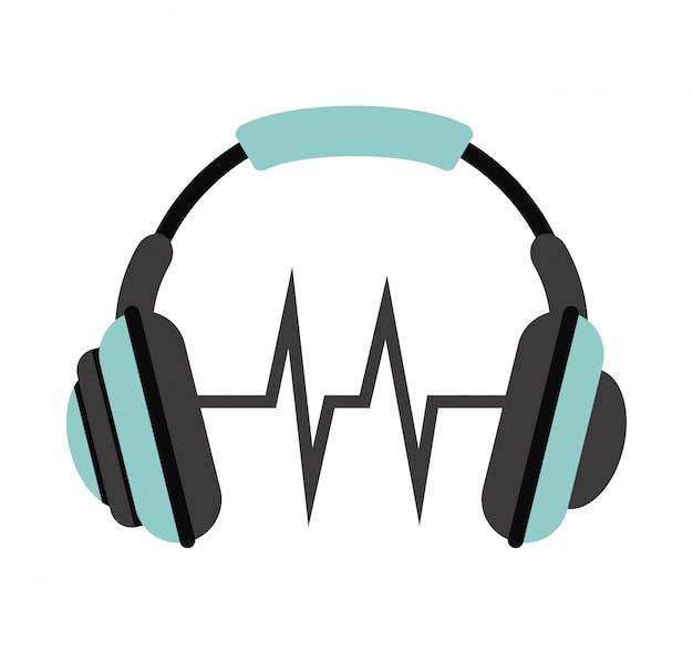 Icona di musica sopra illustrazione vettoriale sfondo bianco