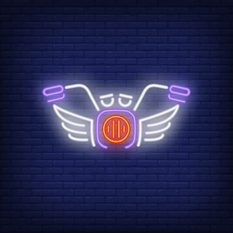 Icona di neon moto