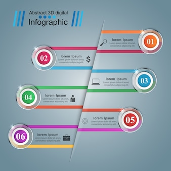 Icona di occhiali. illustrazione astratta infografica.