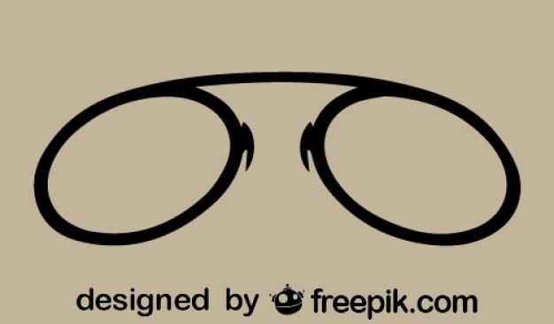 Icona di occhiali retrò