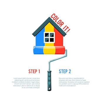 Icona di paint house