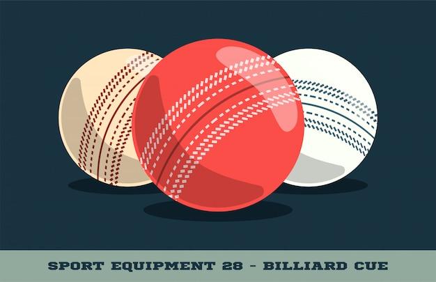 Icona di palle da cricket. equipaggiamento sportivo.