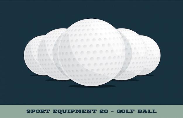 Icona di palline da golf
