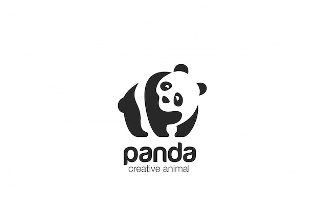 Icona di panda logo logo