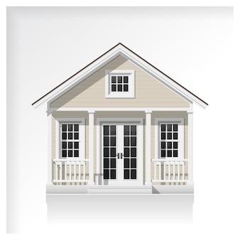 Icona di piccola casa isolato su sfondo bianco