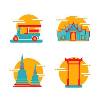 Icona di punti di riferimento di bangkok