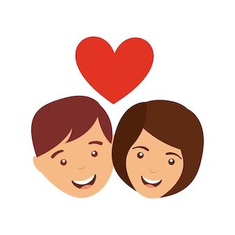 Icona di rapporto di amore della coppia