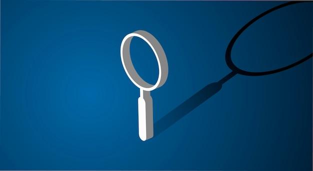 Icona di ricerca della lente d'ingrandimento