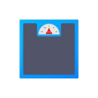 Icona di scale. bilancia isolata